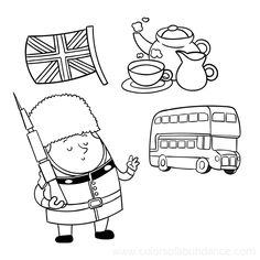 london england coloring pages - photo#27