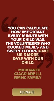 One of our favorite quotes from an amazing RMHC family.