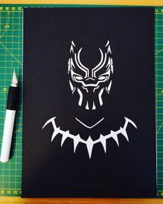 Black Panther paper cutting I made.