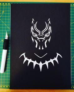 Black Panther Black Amp White Art BLACK PANTHER Pinterest