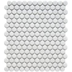 SomerTile 9.875x11.5-in Victorian Penny 3/4-in Matte White Porcelain Mosaic Tile (Pack of 10) - Overstock™ Shopping - Big Discounts on Somertile Wall Tiles