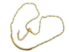24kt. Gold Plated Green Chalcedony stone Faceted by finegemstone