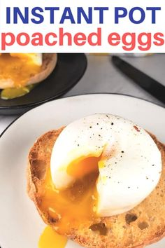 Instant Pot Poached Eggs made in the pressure cooker are much easier than stove ., Food And Drinks, Instant Pot Poached Eggs made in the pressure cooker are much easier than stove top and come out perfect every time. They are healthy and Low Carb/Ket. Instant Pot Pressure Cooker, Pressure Cooker Recipes, Pressure Cooking, Nutritious Breakfast, Breakfast Recipes, Paleo Breakfast, Breakfast Ideas, Breakfast Cookies, Breakfast Quiche