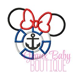 Nautical Ms Mouse Machine Embroidery by GeauxBabyBoutiqueLA, $4.00