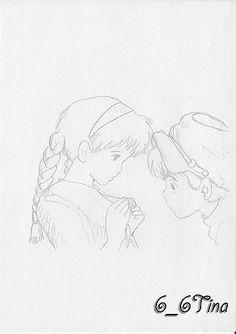 https://flic.kr/p/6LwqQS   Tenku no shiro Laputa / Laputa: il castello nel cielo   Sheeta e Pazu protagonisti del film di animazione di Hayao Miyazaki.