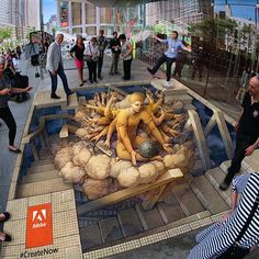 'The Creative Cloud' was completed by Kurt Wenner at the Creative Cloud Launch at the Lincoln Center in NYC. #CreateNow