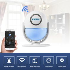 KERUI WP6 WiFi PIR Sensor Wireless Infrared PIR Motion Detector Sales Online eu - Tomtop Smartwatch, Apple Technology, Motion Detector, App Control, Wifi, Self, Smart Watch