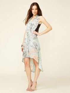 Dean Pleated Silk Fishtail Shirt Dress by Rebecca Minkoff on Gilt.com