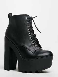 a7cc8dbf700 Brave the chilly weather in style with these lace up booties! - Ankle boots  have a chunky