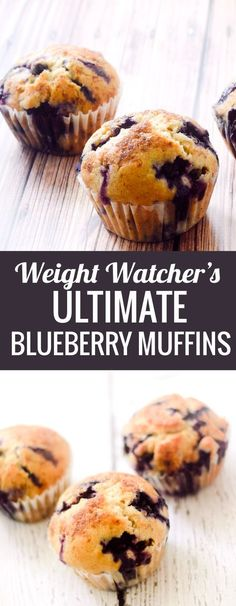 Weight Watcher's Ultimate Blueberry Muffins - 6 points