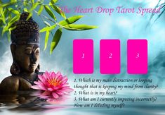 heart drop tarot spread #tarotcardsdiy