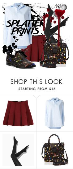 """""""Splatter. NC contest."""" by noemicapozza ❤ liked on Polyvore featuring Outstanding Ordinary, Alexander Wang, Simply Vera and Loeffler Randall"""