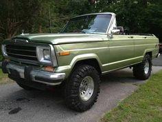 Custom convertible Wagoneer for sale in Rhode Island. Love the uber cool green.