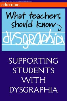 While there's not a lot of research on dysgraphia yet, there are a few signs you should look out for, and some evidence-based tactics to help kids with the writing condition. Types Of Dyslexia, Dyslexia Teaching, Autism Learning, Learning Support, Learning Disabilities, Teaching Tips, Dyslexia Quotes, Sensory Therapy, Dysgraphia