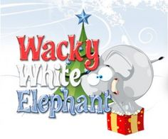 Wacky White Elephant Poem and Left-Right Story for exchanging gifts.
