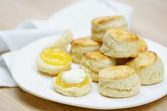 Light, airy and perfect for afternoon tea, this easy lemonade scone recipe is a breeze to whip up. The only tricky thing is limiting yourself to one. Lunch Box Recipes, Sweets Recipes, Baking Recipes, Cake Recipes, Tea Recipes, Desserts, Delicious Magazine Recipes, Delicious Recipes, Lemonade Scone Recipe