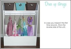 Next DIY project...Dress up storage
