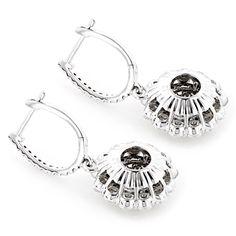 Luxurman 14k White Gold 3 4/5ct TDW Round Diamond Drop Earrings