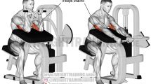 Learn how to use the machine triceps extension, an isolation and push exercise, to safely and effectively build your triceps brachii. Yoga Fitness, Fitness Tips, Health Fitness, Sports Training, Weight Training, Big Biceps Workout, Biceps Training, Workout Exercises, Arm Workouts