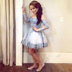 Vestido da recepção dos 15 anos da Larissa Manoela