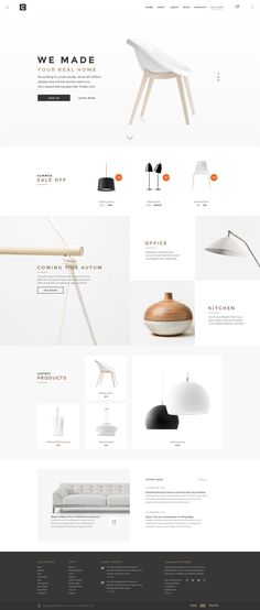 Chameleon Shop PSD Template is an unique eCommerce PSD template for on online shopping store. Designed base on free font, resizable vector icons with clean and simple UI, this optimised for furniture and home goods store… Ios App Design, Web And App Design, Web Design Mobile, Site Web Design, Minimal Web Design, Interface Design, Page Design, Website Designs, Website Ideas