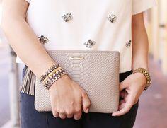 GiGi New York   My Style Diaries Fashion Blog   Stone All In One Clutch