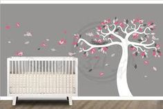 pink and gray nursery - Google Search