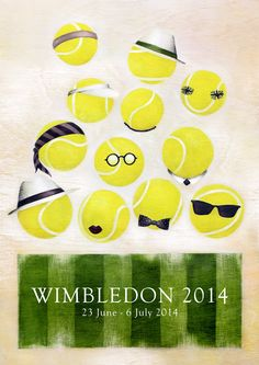 Tennis - Getting ready for Wimbledon!  Wimbledon 2014 Poster - dapper, darling! #wimbledon #wimby #wimbledon2014
