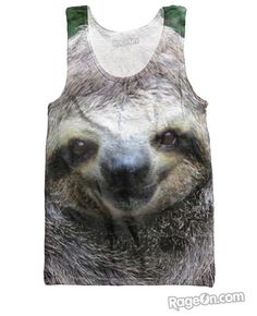 Sloth Tank Top - Rage On! - The World's Largest All-Over Print Online Retailer