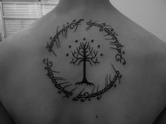 L.o.t.R. back tattoo