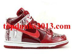 Dontrelle Willis Red Premium High Top Nike Dunk Internet Sales