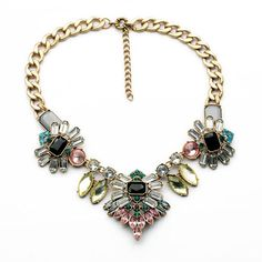 FitandWit Rhinestone Crystal Statement Fashion Necklace *** To view further for thisvalentines gift ideas, visit the image link.