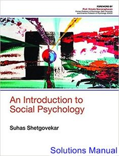 Advanced financial accounting 11th edition christensen cottrell budd solutions manual for introduction to social psychology 1st edition by shetgovekar ibsn 9789386446831 fandeluxe Images