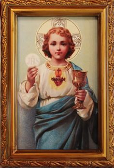"6.5"" Eucharistic Heart of the Child Jesus"