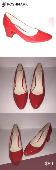 1778174ede1 COLE HANN RED PATENT LEATHER CHUNKY HEEL SZ 8B COLE HANN CHINKY HEEL SIZE  8B RED