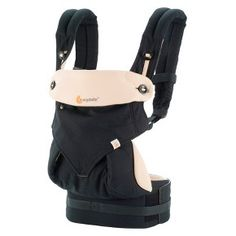 Ergobaby 360 4 Position Baby Carrier - Black & CamelDim
