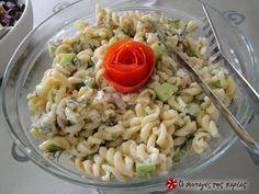 Τονοσαλάτα ελαφριά με ζυμαρικά #sintagespareas Weight Watchers Meals, Greek Recipes, Yummy Snacks, Pasta Salad, Salads, Food Porn, Fish, Ethnic Recipes, Crab Pasta Salad