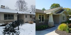 Before After Ranch Home Renovations | We had fun giving this ranch home new life with a new look outside and ...