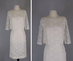 vintage 1960s lace ensemble // lace pencil skirt by VintageCalling, $78.00