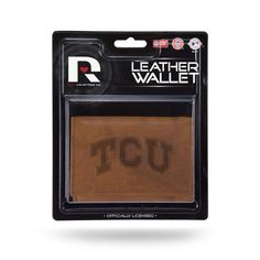 TCU Horned Frogs Leather Embossed Trifold Wallet