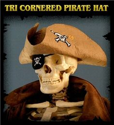DIY pirate hat from brown paper - via http://ravensblight.com/PirateHatINST.pdf