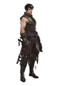 ArtStation - Makorr the Rogue Ninja, John Dimayuga - Best Character Designs 2019 Fantasy Character Design, Character Design Inspiration, Character Concept, Character Art, Dungeons And Dragons Characters, Dnd Characters, Fantasy Characters, Fantasy Male, Fantasy Armor