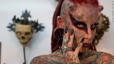 Mexican tattoo artist said she started to cover her body in tattoos ...