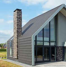 Building Design Architectuur Gable House, House Roof, Modern Barn, Modern Farmhouse, Residential Architecture, Modern Architecture, A Frame House, Shed Homes, Timber House