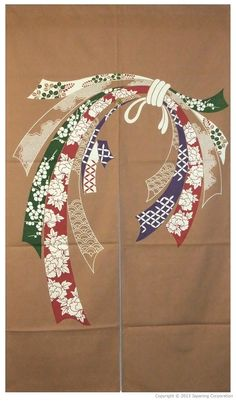 NOSHI beige (Lucky Knot) (33 1/2W x 59L)   Japanese Handmade Crafts Shop - nipponcraft