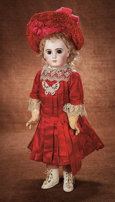 At Play in a Field of Dolls (Part 1 of 2-Vol set): 86 Beautiful French Bisque E.J. Bebe by Emile Jumeau in Superb Costume