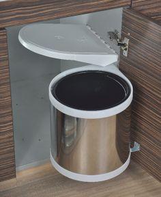 Auto Lid Waste Bin For under deep bottom sinks Contemporary Kitchen Interior, Kitchen Organization, Kitchen Appliances, Sinks, Wood, Deep, Furniture, Accessories, Diy Kitchen Appliances