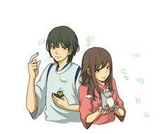 Si Haku y Chihiro tuvieran unos años más... ^^ #FanArtGhibli 'El viaje de Chihiro'