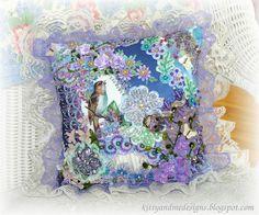 Purple Bird Crazy Quilt Pillow | Flickr - Photo Sharing!