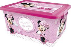 Scatola per Riporre i Giocattoli con Coperchio Disney Minnie Ordine in Cameretta…